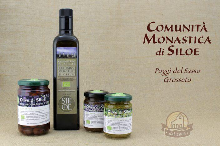 Olio e Olive prodotti dal Monastero di Siloe Toscana